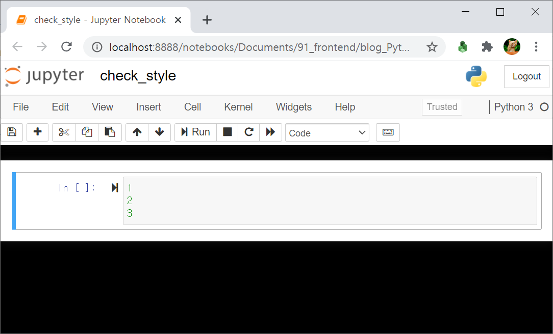Jupyter Notebook Custom CSS black